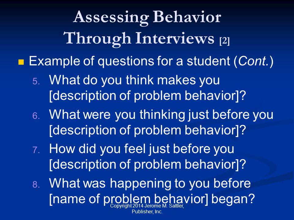 Assessing Behavior Through Interviews [2]